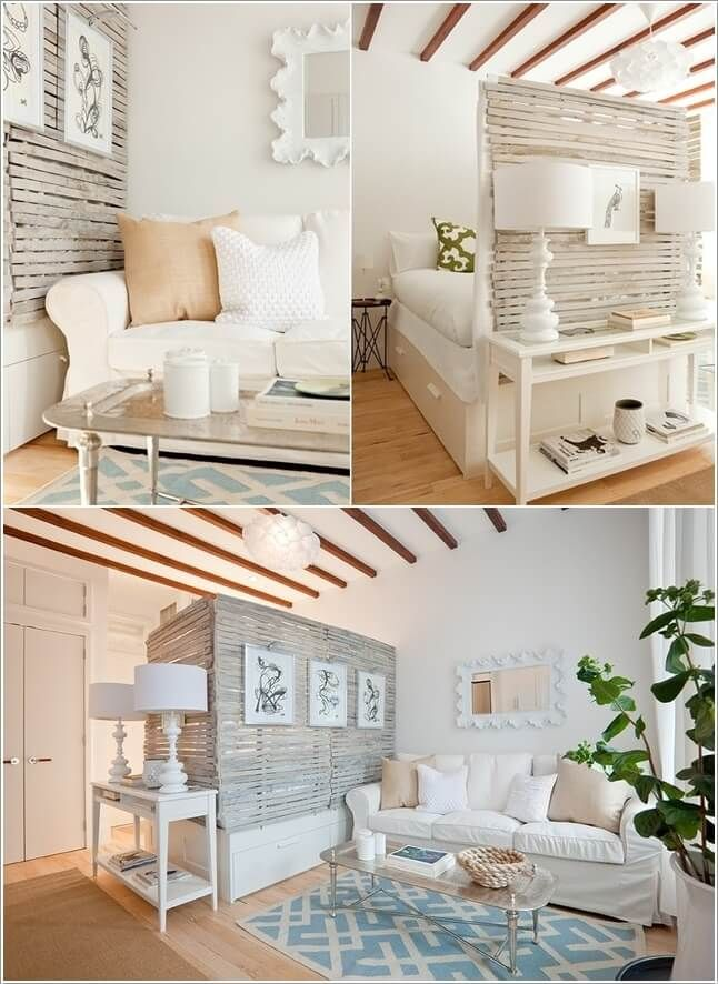 10 Ideas for Room Dividers in a Studio Apartment 4Best 25  Bedroom divider ideas on Pinterest   Wood partition  . Living Room Bedroom. Home Design Ideas