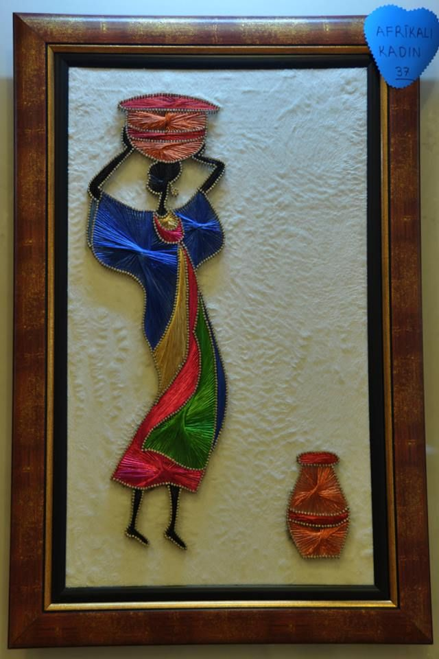 filografi sanatı afrikalı kadın