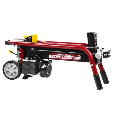 """Features & Benefits"" Southland Outdoor Power Equipment SELS60 6 Ton Electric Log Splitter, Red"