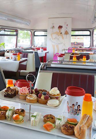 BB Bakery bus . afternoon tea .