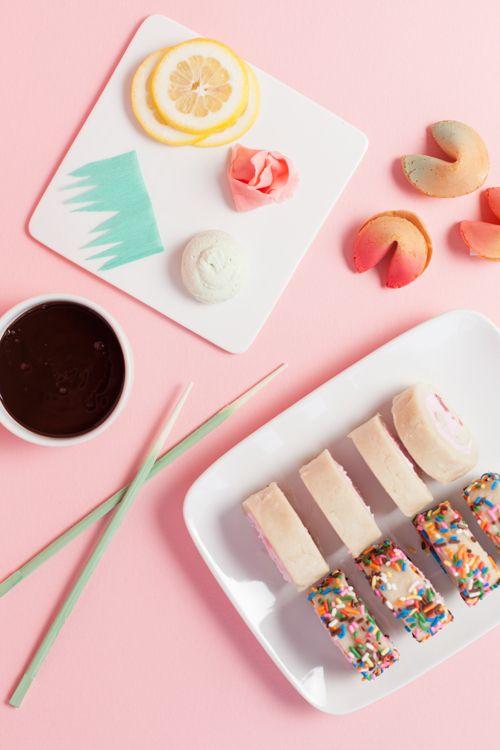 Dessert sushi - fun!