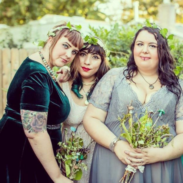 …and this one, who kept her friends even closer. | 23 Stunning Curvy Brides Who Are Slaying This Whole Wedding Thing