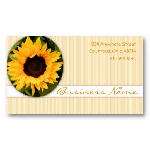 sunflower nature business cards
