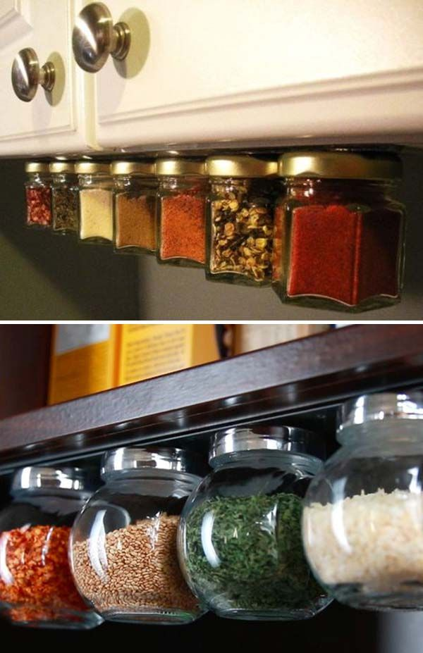 Make A Magnet Spice Rack To Save The Kitchen Space.