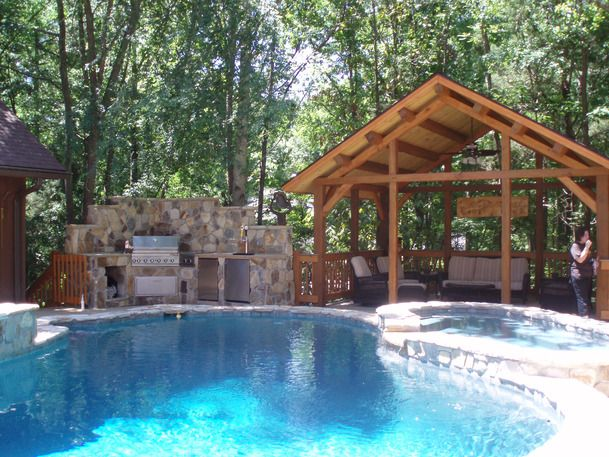 Even Without The Pool Maybe A Clawfoot Tubs Instead Patio Ideas Building Tips And Design Trends Outdoor Projects Hgtv Remodels