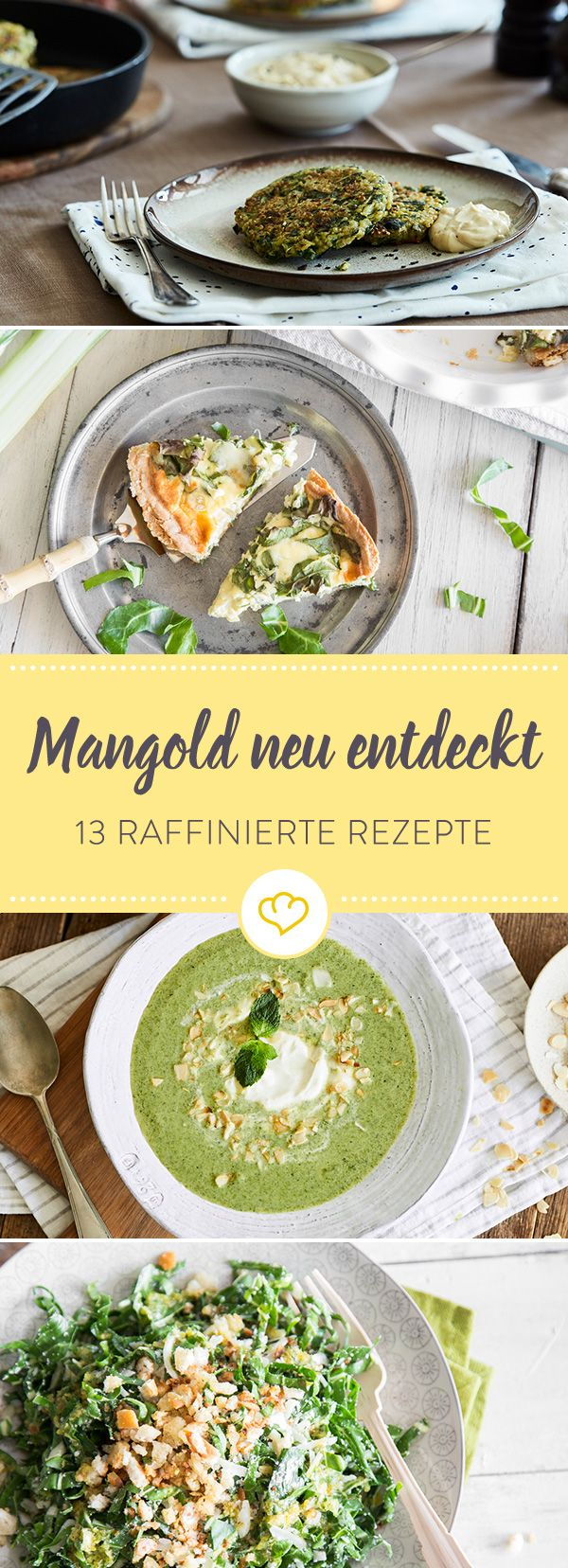 Mangold stand lange genug im Schatten von Spinat. Jetzt feiert das aromatische Gemüse endlich sein Comeback als Quiche, als Salat, als Lasagne, als ...