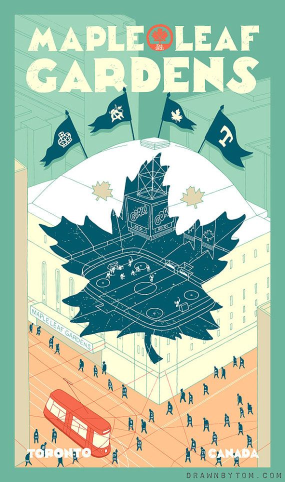Maple Leaf Gardens first edition giclee print by tomchitty on Etsy