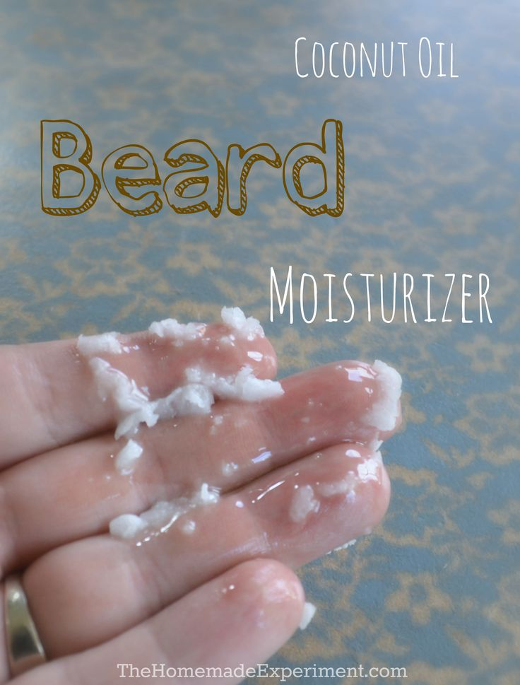 How to use coconut oil as a simple diy beard moisturizer.
