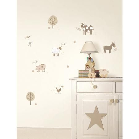 Fun4Walls Farm Wall Stickers, Neutral