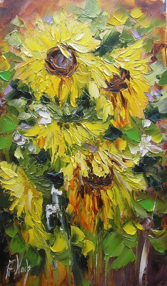 ☆ Sunflowers :¦: By Artist Anna Wach ☆
