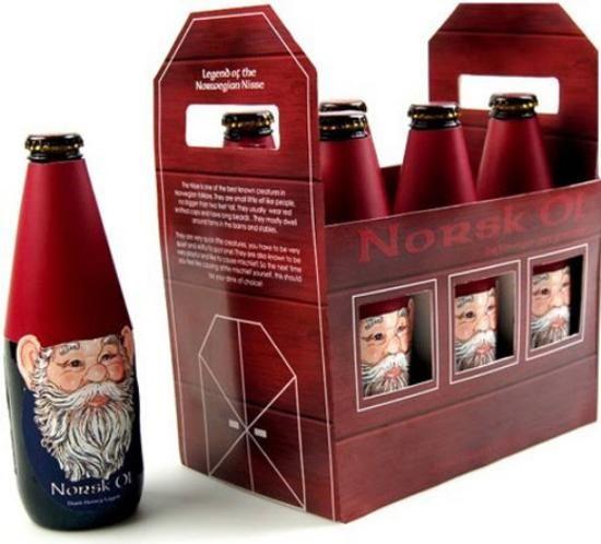 Norwegian Christmas beer,  nice design