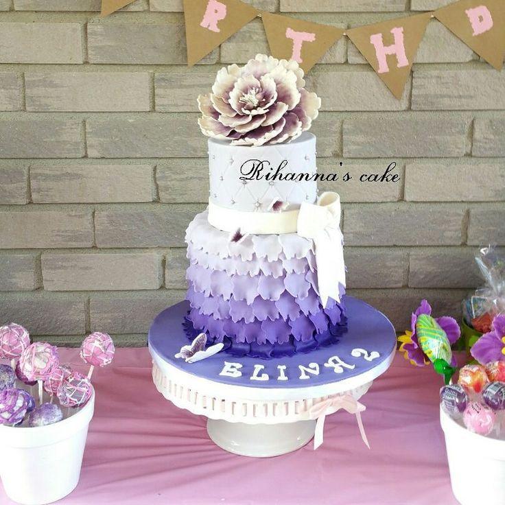 🎂 birthday Ruffle flower cake🎂 . . #cake #birthdaycake #fondantcake #buttercream #fondant #rufflecake #cakedeco #cakedecorating #cakeinstyle #cakeinstag #کیک# birthday party#birthdaygirl