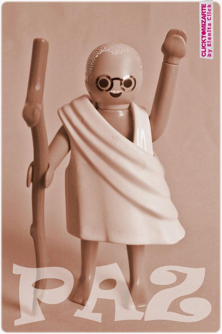 Clicktomizarte by Elenita Click: #Gandhi #clicktomizado por la #PAZ