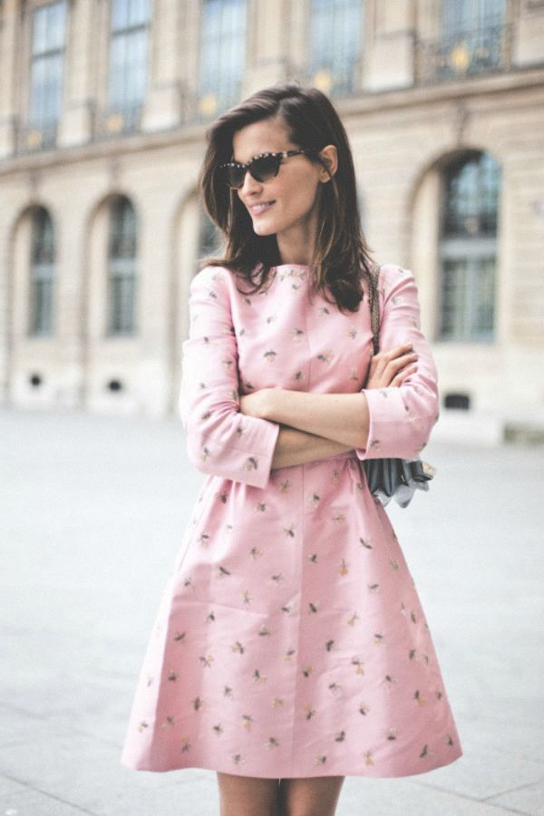 {fashion inspiration | romantic spring style : pink hues} by @Victoria Brown Brown Brown Berezhna: Fashion, Inspiration, Hanneli Black Beard, Street Style, Dresses, Outfit, Street Styles, Pink Dress