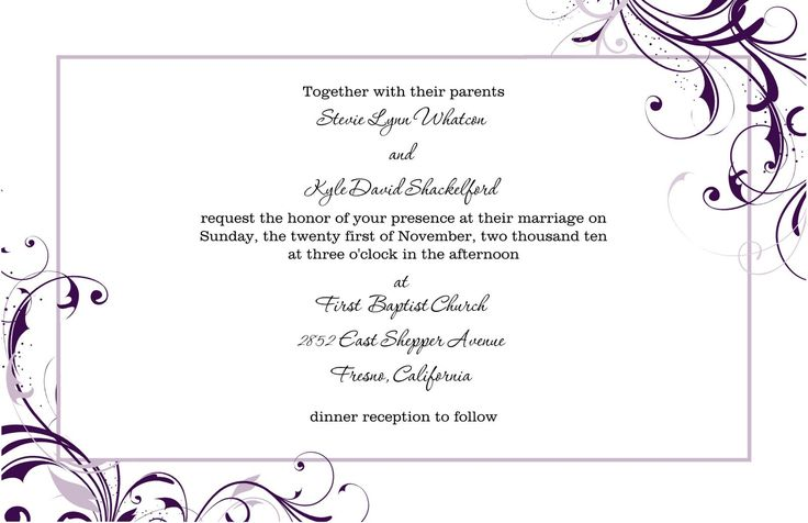 Marvelous ... Free Blank Wedding Invitation Templates For Microsoft Word | Wedding  Invitations | Pinterest | Blank Wedding ...