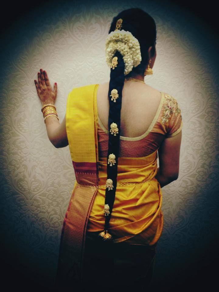 South Indian Bridal Hairstyle Wedding BraidsIndian HairstylesIndian