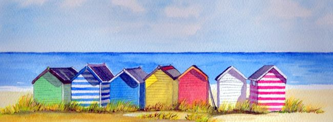 Southwold Beach Huts Painting