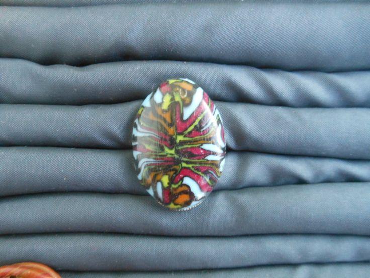 polymer clay ring / δαχτυλίδι πολυμερικός πηλός  μέταλο