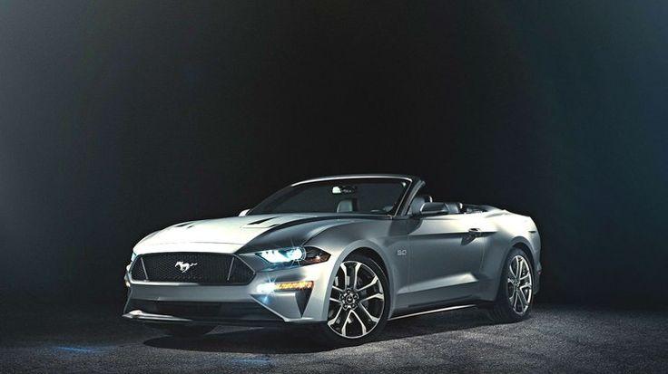 Ford revela primeiras imagensoficiais do renovado Mustang conversível