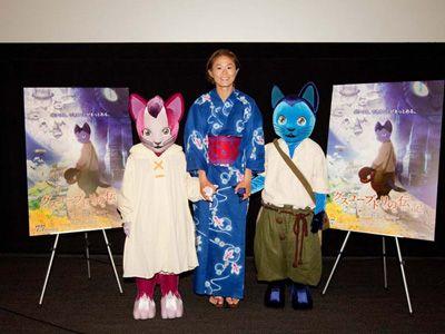 Homare Sawa and cats@サッカー澤穂希、叔母は映画プロデューサー!オリンピック直前にブルーの浴衣でイベント登場!