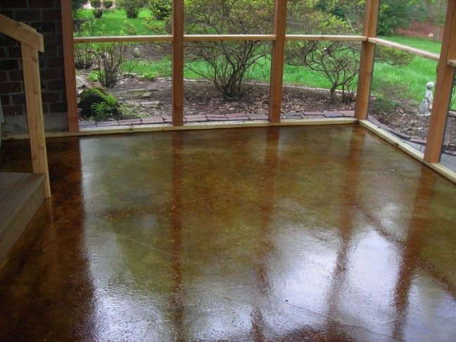 Stained Concrete Patios | Kansas City Concrete Staining, Acid Stain