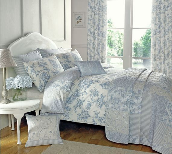 Buy Dreams N Drapes Malton Blue Duvet Cover - Kingsize at Argos.co.uk - Your Online Shop for Duvet cover sets, Bedding, Home and garden.