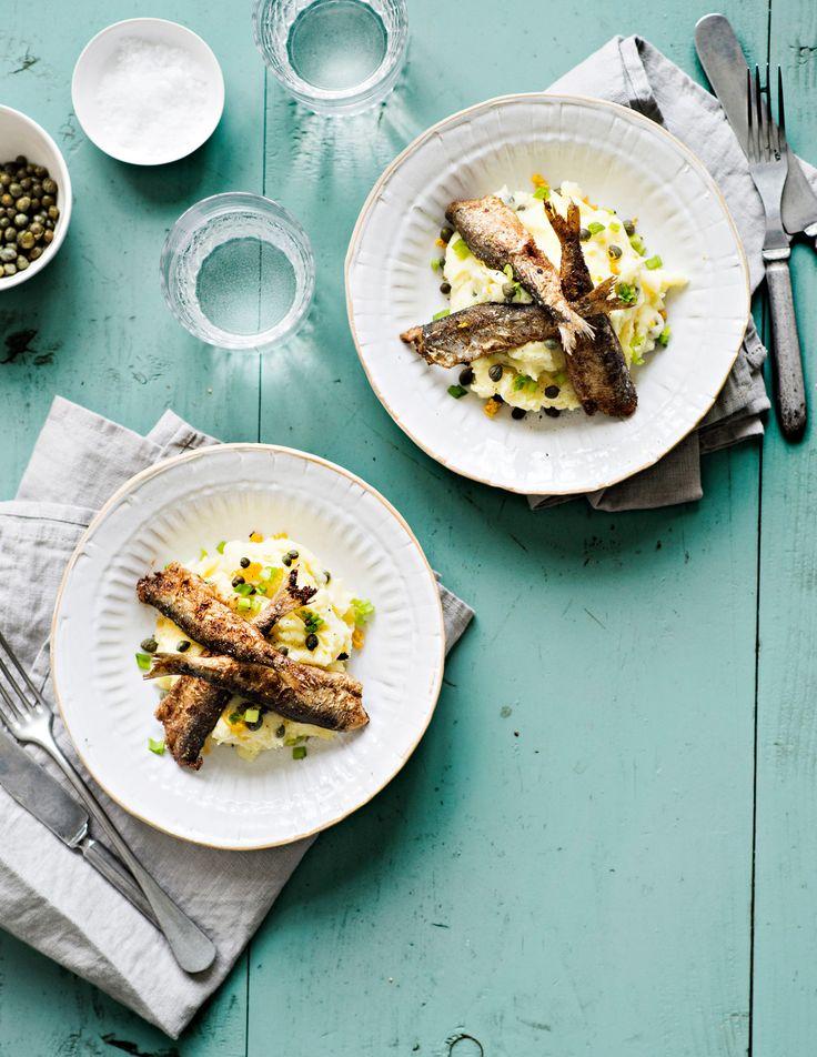 Paistetut muikut ja sitruuna-perunasose | K-ruoka #kalareseptit