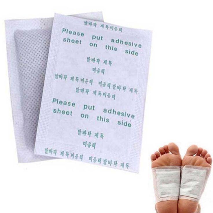Detox Foot Pads Patches com adesivo, Limpar e energizar seu corpo alishoppbrasil