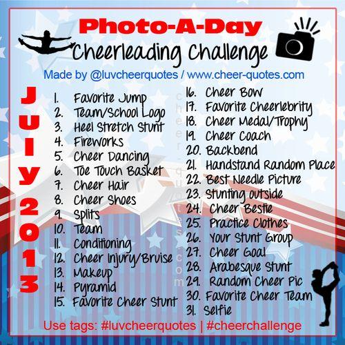 Cheerleading photo challenge