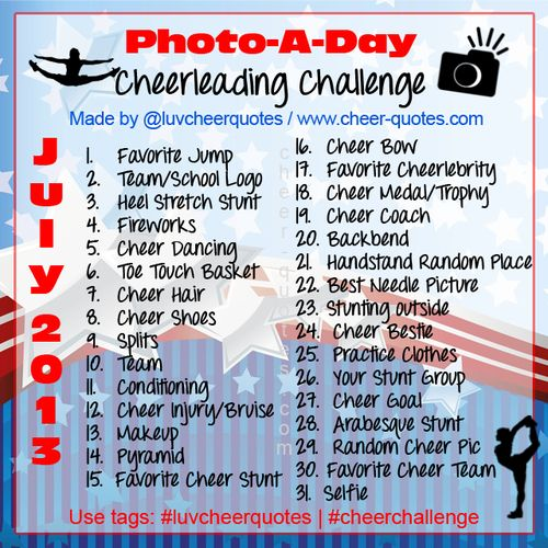 Cheerleading photo challenge so gonna do this for my birthday month!!!