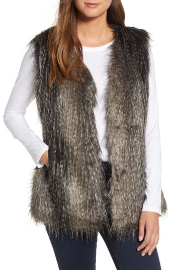 f0982b565fb20a Amazing offer on Via Spiga Faux Fur Vest online in 2018