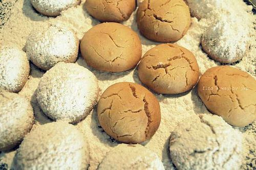 Kourabiethes for Christmas treat ... Greek icing butter cookies recipe