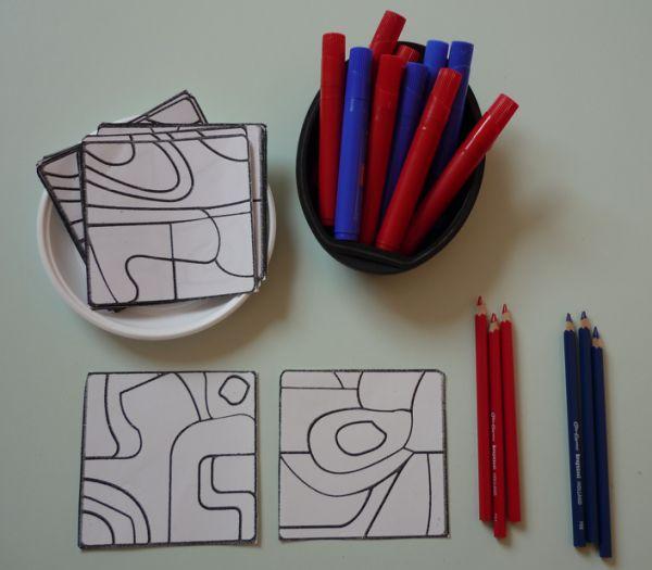 Nous allons rendre hommage à l'art brut et plus particulièrement à l'œuvre de Jean Dubuffet. Un feutre bleu, un feutre rouge, deux crayons on s'inspire de l'artiste et&#8230…