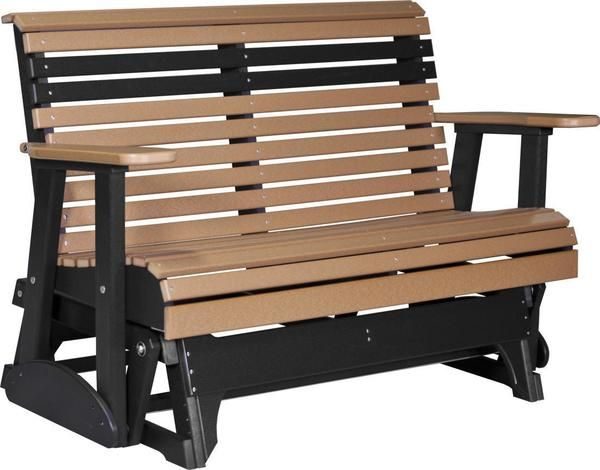 Amish Luxcraft 4 Plain Poly Glider Bench In 2020 Patio Glider Outdoor Glider Poly Outdoor Furniture