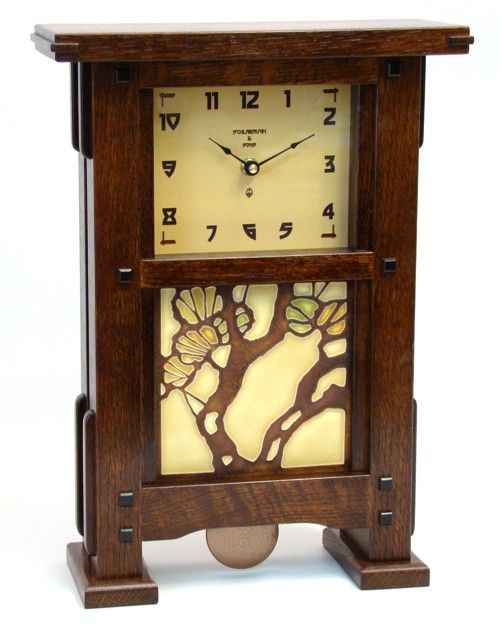 Mission Style Mantel Clock Plans Woodworking Projects
