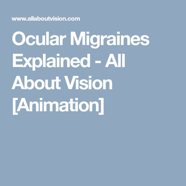 Ocular Migraines Explained - All About Vision [Animation]