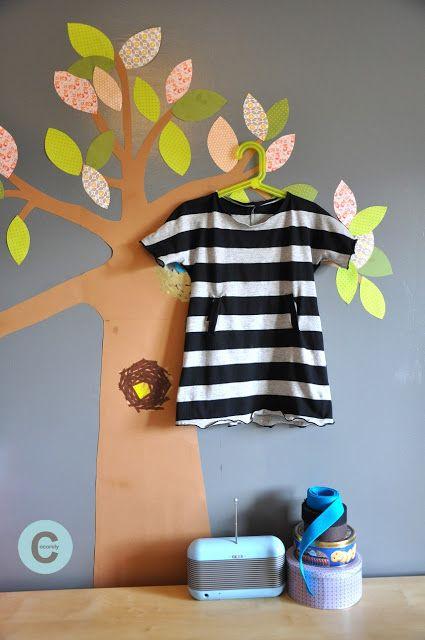 Les Fåntåisies de Cocorely: Robe de fillette à partir d'un grand T-shirt (DIY)...