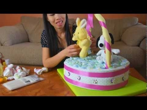 how to make a nappy cake basket