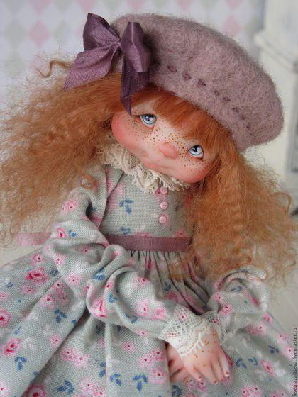 """Коллекционные куклы ручной работы. Ярмарка Мастеров - ручная работа. Купить """"Полли"""". Handmade. Комбинированный, кудряшки, колясочка, мех ламы"""