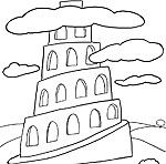 83 best images about hands on activities for sunday for Tower of babel coloring pages for kids