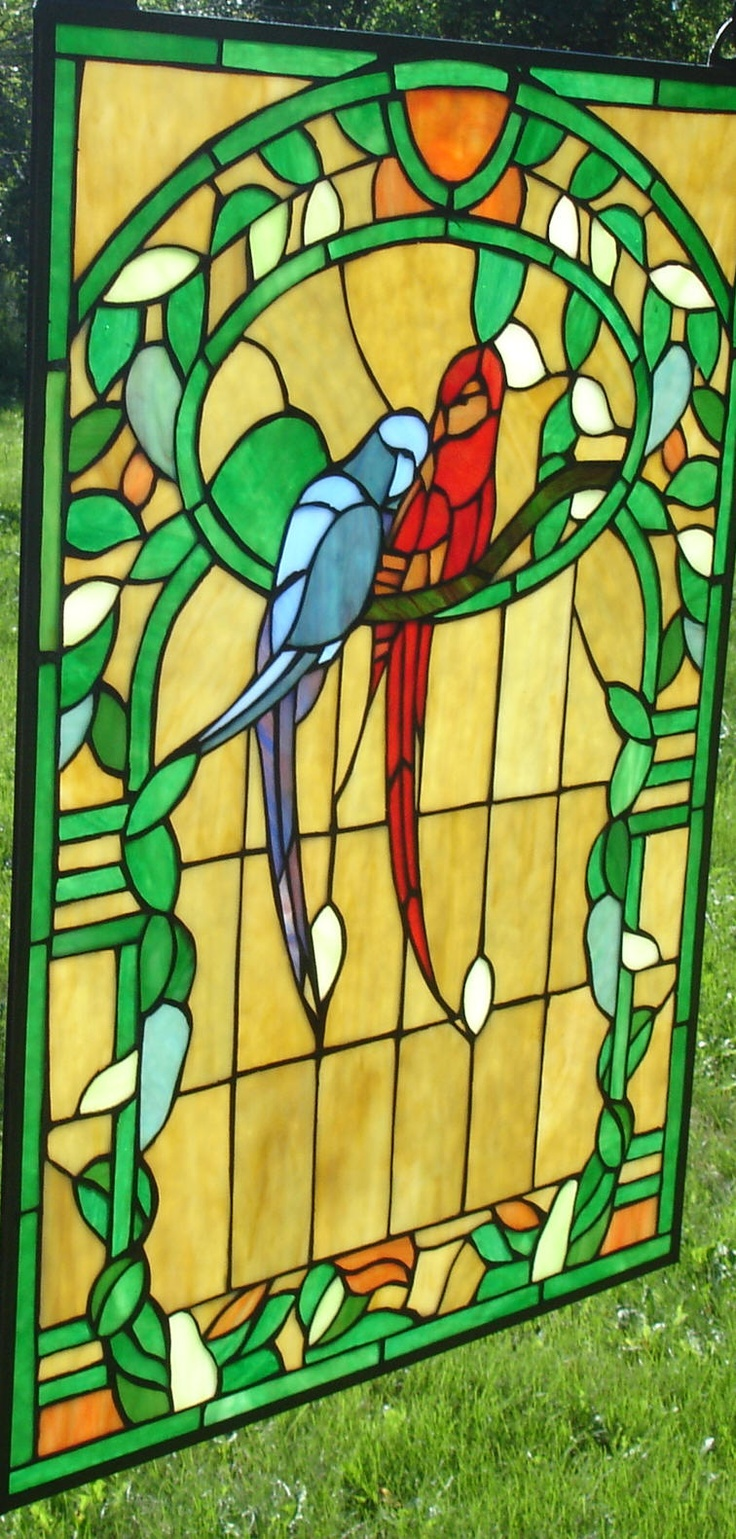 how to make a stained glass window with cellophane