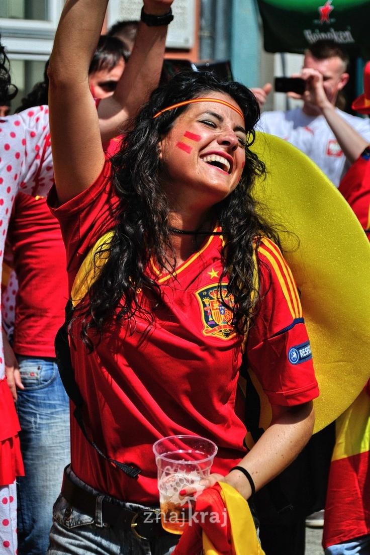 Gdańsk, Długi Targ, w dzień meczu Hiszpania-Włochy.