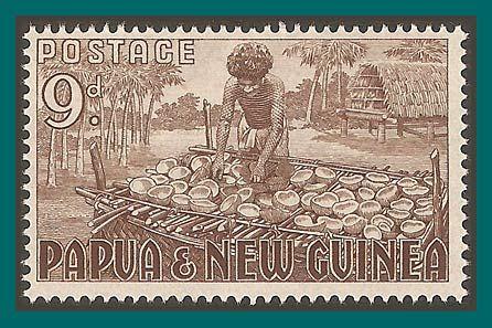 Papua New Guinea Stamps 1952 Copra Making, mint