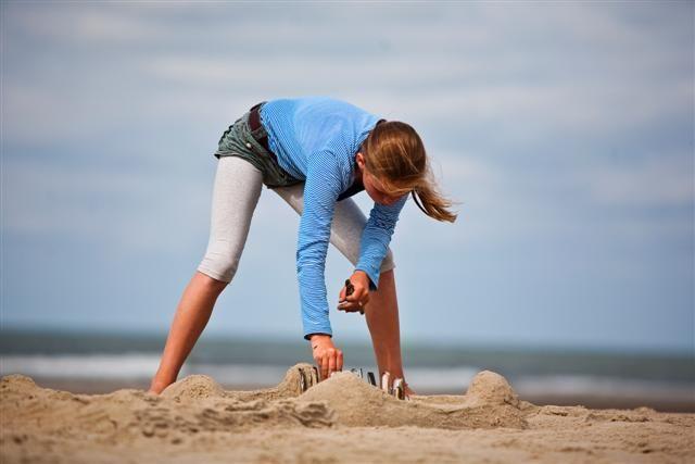Eindeloos zandkastelen bouwen op het strand...