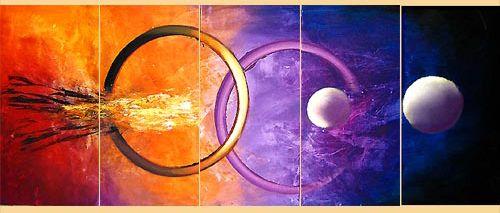 Obraz na płótnie w 5 częściach - #Nova  #Osnat - oryginalne zestawienie kolorystyczne #fedkolor #malarstwo #sztuka #obraz #art #sztukanowoczesna #obrazynowoczesne #współczesne #obraznapłótnie #obrazzezdjęcia #obrazpięcioczęściowy #kosmos #fioletowe #pomarańczowe #dosalonu #dopokoju #dobiura #diy