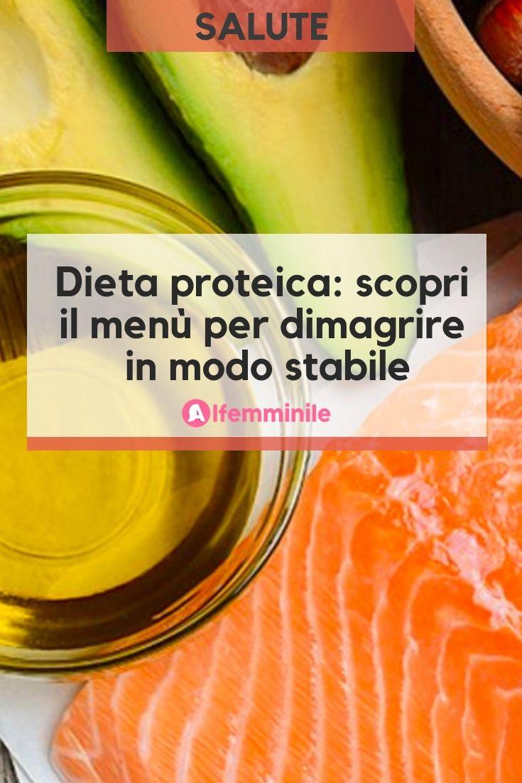 menu settimanale di dieta proteica