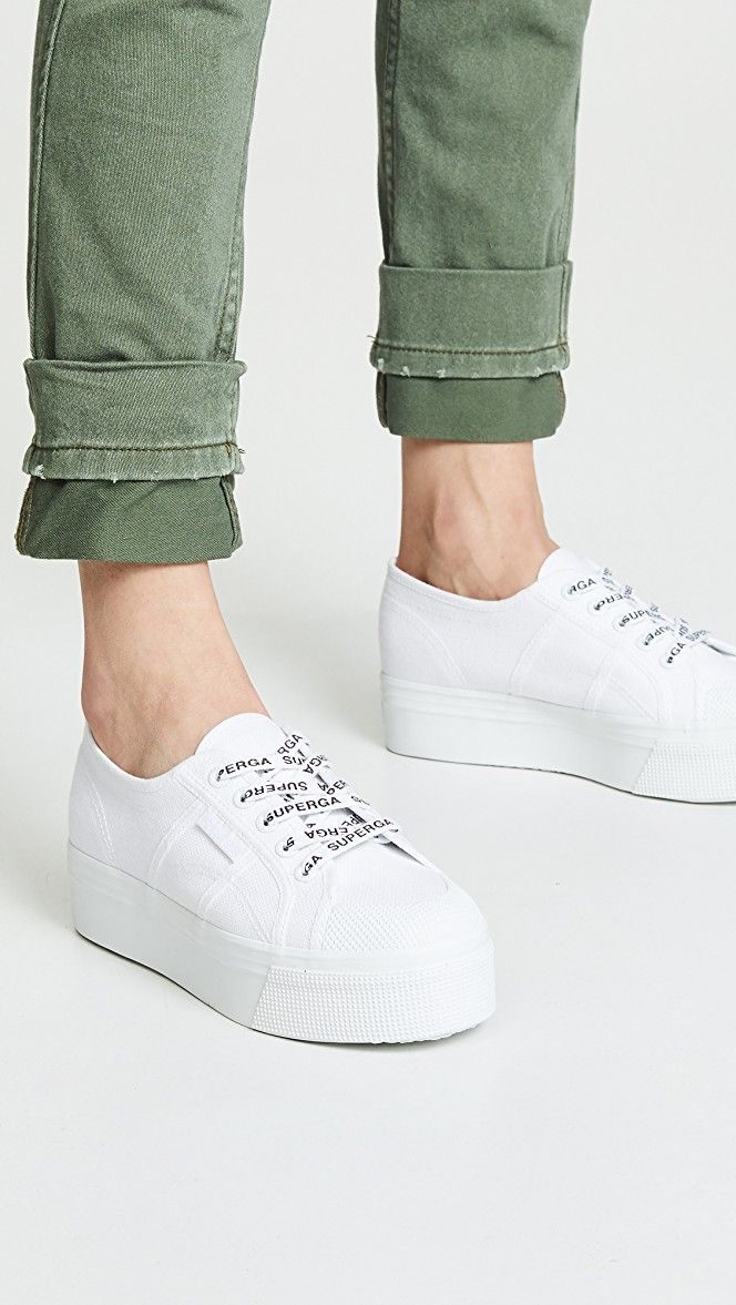 Details about  /WOMENS FLATFORM SUPERGA CANVAS CHUNKY SOLE LOW CUT SNEAKERS UK ALL SIZES