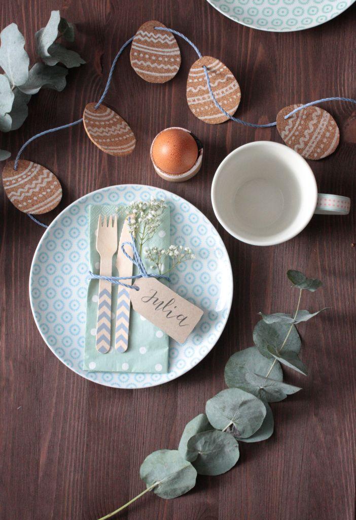DIY Ostern: Tischdeko für Ostern basteln