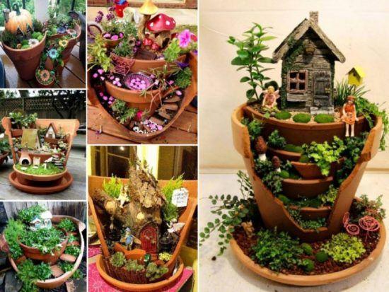 Fairy Pot Garden, Broken Pots,  DIY, Terra Cotta Planters, Clay Pots, Garden Art, Garden Containers, How To, Instructions, Tutorial