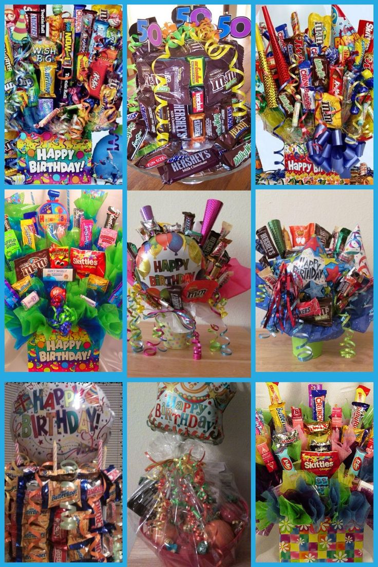 Birthday Candy Bouquets